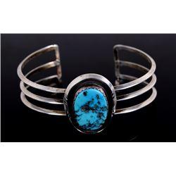 Navajo Native Sleeping Beauty Turquoise Bracelet