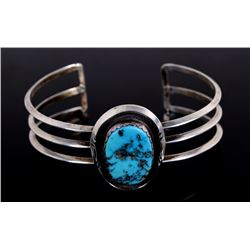 Navajo Native Sleeping Beauty Turquoise Bracelet