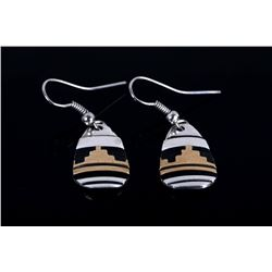 Tommy Singer Navajo 14k Gold Sterling Earrings