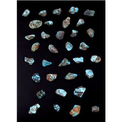 Collection of 733.5 Carats of Uncut Turquoise