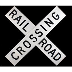 Aluminum Reflective Railroad Crossing Sign
