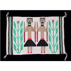 Navajo Native American Yeibichai Fine Wool Rug