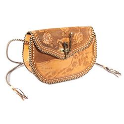 Custom Leather Hand Tooled Purse