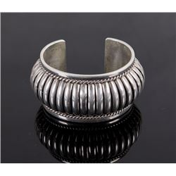 Thomas Singer Navajo Signed Sterling Silver Cuff