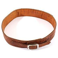 Jack Connolly Leather Tooled Ammo Belt