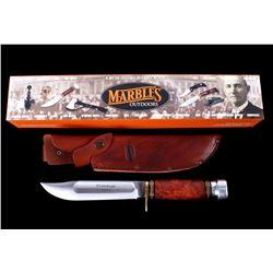 "Marble's 9"" Ideal 2004 Prototype Burl Handle Knife"