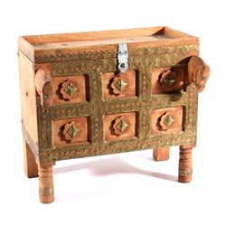 19th Century Hand Crafted Afghan Grain Chest