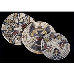 1950's Hopi Hand Woven Coil Baskets and Tray