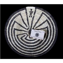 Hand Woven O'odham  Man In The Maze  Coil Basket