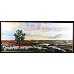 Signed Original Bill Holle Landscape Painting