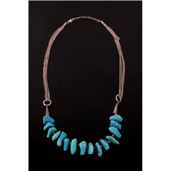 Navajo Sleeping Beauty Nugget Necklace