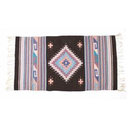 Hand Woven Zapotec Native American Wool Rug