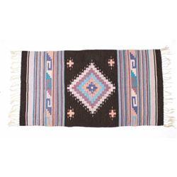 Hand Woven Zapotec Native American Wool Rug