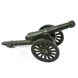 20th Century Cast Iron Display Cannon