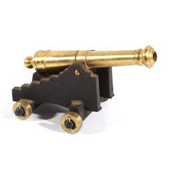 Brass & Cast Iron 19th Century Navy Cannon