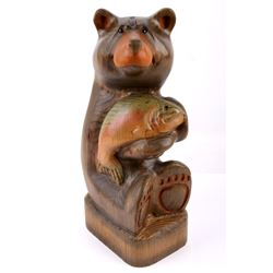 Big Sky Carvers Hand Carved Bear With Trout