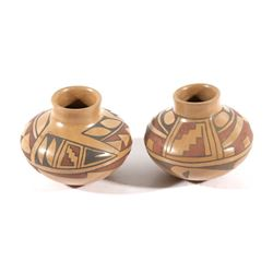 Small Acoma Polychrome Pottery Jars