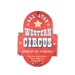 Hand Painted All Star Western Circus Wooden Sign