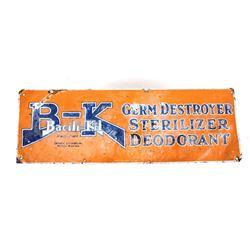 Bacili-Kil Germ Destroyer Sterilizer Metal Sign