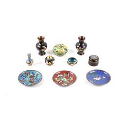 Set of Antique Chinese Cloisonne Enamelware