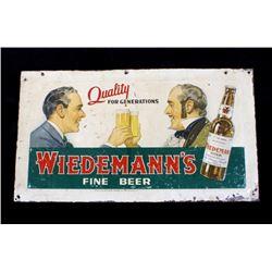 Antique Wiedemann's Fine Beer Tin Sign