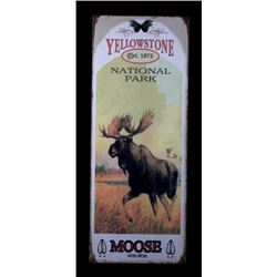 Yellowstone National Park Moose Metal Posters