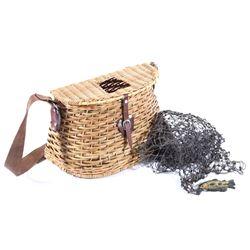 Antique Fly Fishing Creel Basket