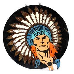 Custom Metal Native American Chief Sign