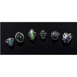 Collection of Navajo Native American Rings