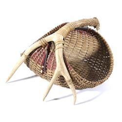 Hand Woven Deer Antler Basket
