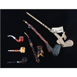 Assorted 20th Century Wooden Smoking Pipes