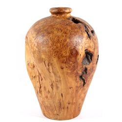Custom Folk Wood Art Burl Wood Vase