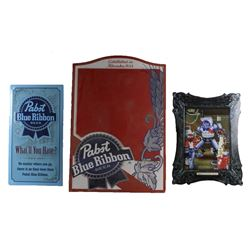 Collection of Pabst Blue Ribbon Advertising Signs