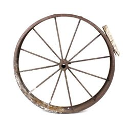 Antique Western Style Wagon Wheel
