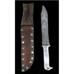WWII Eagle Head Trench Fighting Knife with Sheath