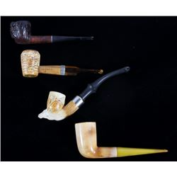 Collection of Four Vintage Smoking Pipes