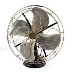Mid 20th Century Signal Motor Industrial Metal Fan