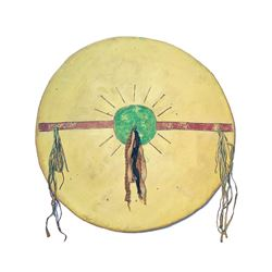 Kiowa Comanche Polychrome Painted War Shield 1800s