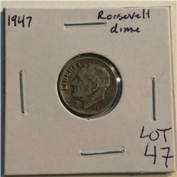 1947 P Roosevelt Silver Dime Nice Early US Coin
