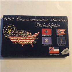 2002 Commemorative State Quarters Set Philadelphia TN OH LA IN MS