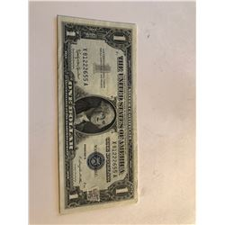 1957 B Series 1 Dollar Silver Certificate Note AU  High Grade