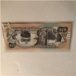 Rare 00 Dollars GUYANA Bill in UNC Condition