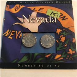 NEVADA State Quarters Set P D in Original Mint Package