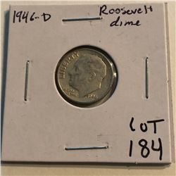 1946 D Roosevelt Silver Dime Nice Early US Coin