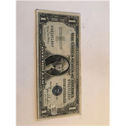 Rare 1935 D Series 1 Dollar Silver Certificate Note AU  High Grade