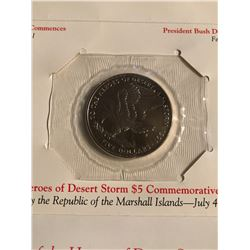 5 Dollar Commemorative HEROES of DESERT STORM