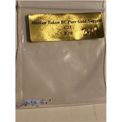Bag of 10 Alaskan Yukon Gold Nuggets Authentic G25 BC