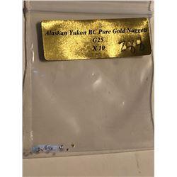 Bag of 10 Alaskan Yukon Gold Nuggets Authentic G25 BC