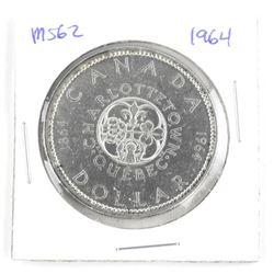 1964 Canada Silver Dollar MS62 ICCS.