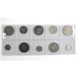 Lot (10) USA .900 Silver Coins